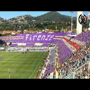 Fiorentina's spectacular stadium-wide choreography from today's Fiorentina - Juventus match