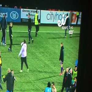 Kung fu kick after Dundalk vs Derry