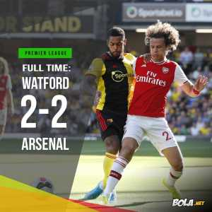 Watford end the game with 31 shots vs Arsenal's 7