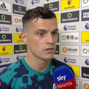 "Xhaka: ""We have to be happy to take a point..."""