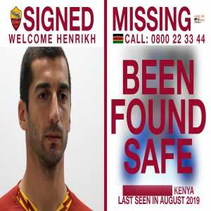 Brilliant news! A 13-year-old Kenyan boy featured in the AS Roma announcement video for Mkhitaryan has been found safe & reunited with his family.