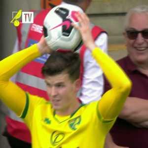 Norwich playing through Man City's press