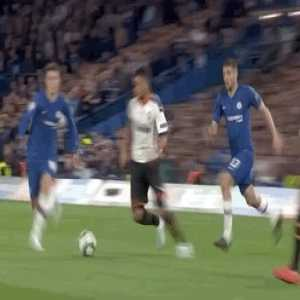 Coquelin's dangerous yellow card worthy challenge on Mason Mount