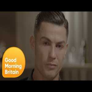 Cristiano Ronaldo Becomes Emotional On Seeing Footage of His Father   Good Morning Britain