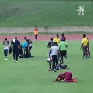 Lightning struck a High School soccer game in Jamaica hospitalizing 4 players.
