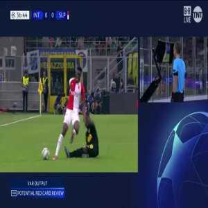 Ref determines no red card for Asamoah using VAR