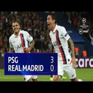 Paris Saint Germain vs Real Madrid (3-0)   UEFA Champions League Highlights