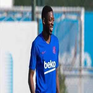 Dembele has just started training with his Barcelona teammates today before the game against Granada