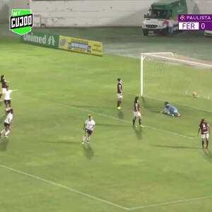 Incredible passing sequence and goal   Ferroviária x Corinthians Feminino