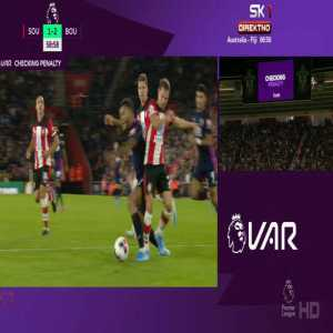 Southampton - Bournemouth VAR penalty check for start on King