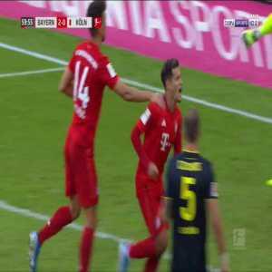 Bayern München 3-0 Köln - Coutinho 60' Penalty retaken + K. Ehizibue Straight red card