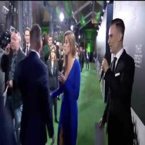 Lionel Messi absolutely ignoring the presenters at the Best Fifa Awards