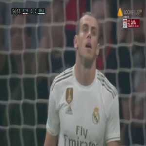 Gareth Bale missed chance vs Atlético Madrid