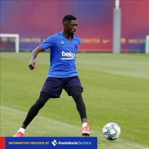 Ousmane Dembele out with a hamstring injury