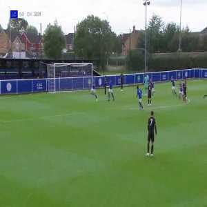 Leicester City U23 [1]-0 Chelsea U23 - George Hirst 6' - quick free kick following a back-pass