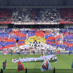 "Lyon-Nantes was scheduled at 13:30 to be broadcasted in China, Lyon ultras deploy a ""Free Tibet"" tifo"