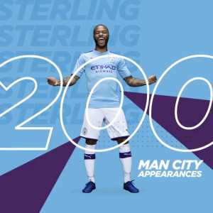 Raheem Sterling marks his 200th appearance for Manchester City