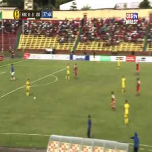 A Horoya AC (Guinea) defender almost scores the most incredible own goal in the CAF Champions League