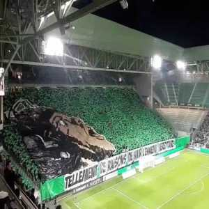 "AS Saint-Étienne tifo for the Derby Rhônalpin against Olympique Lyonnais: ""So many reasons to hate the old enemy"""