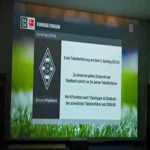 """DAZN journalist calls Augsburg's Florian Niederlechner """"Florian Niederlage"""" after their 5-1 loss to Borussia Mönchengladbach. Niederlage means defeat in English. (video)"""
