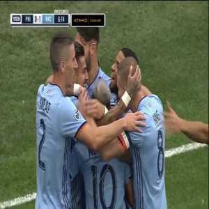 Philadelphia Union 0-[1] NYCFC - R. Matarrita 7' (nice team goal)