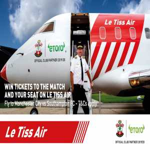 Because Southampton travel more than the average premier league fan, club legend Matt Le Tissier to launch Le Tiss Air for their next game against Manchester City.