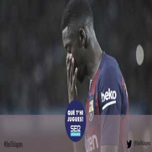 [Cadena SER] Sources at RFEF confirm that Dembele will miss 2 games as a penalty for his red card, one of which is El Clásico.