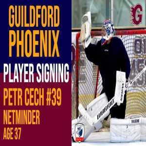 Ex Arsenal and Chelsea Goalkeeper Petr Cech signs for Guildford Phoenix Ice Hockey Club