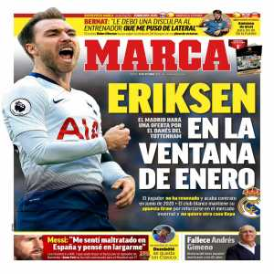 Marca: Real Madrid want Eriksen in January