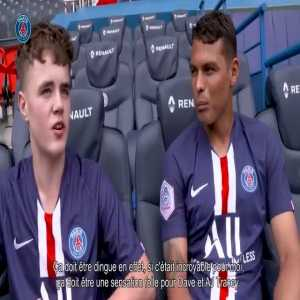 Glastonbury boy meets Thiago Silva face to face after he gets invited by PSG due to his viral performance