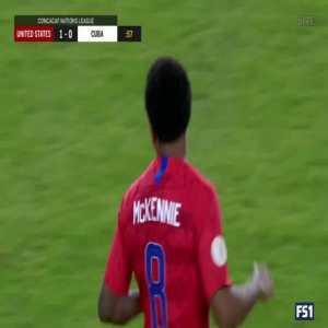 United States 1-0 Cuba | Weston McKennie 1'