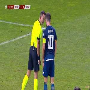 Bosnia-Herzegovina 2-0 Finland - M. Pjanić 37' Penalty