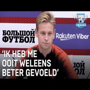 "Frenkie de Jong: ""It's not that I feel bad or much less than normal, but let's say i'm not peak fit. I feel just well. I've felt better before of course, but eh, no I feel well enough"""
