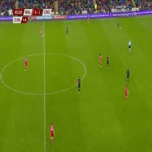 Wales [1]-1 Croatia - Bale 45'+3'
