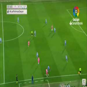 Las Palmas attacker and Barcelona signing Pedri with a spectacular first half against Deportivo La Coruña, including two assists.