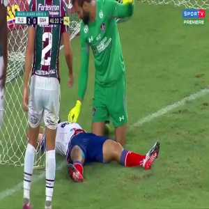 Player in Brazil declining medical assist after hitting the post