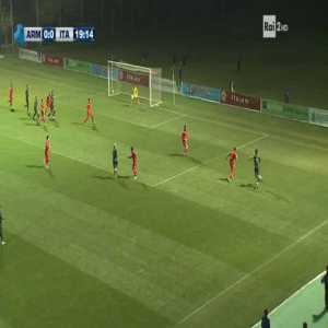 Armenia U21 0-1 Italy U21 - Gianluca Scamacca 20'