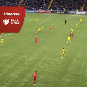 Eden Hazard back heel skill vs Kazakhstan