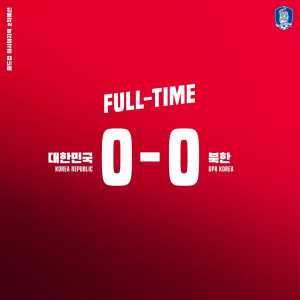 FT: North Korea 0-0 South Korea