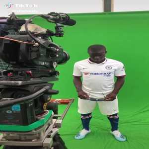 Ngolo Kante's video for Chelsea's TikTok