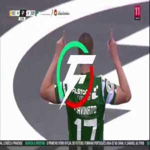Fantastic volley by Sporting's Cavinato (Futsal)