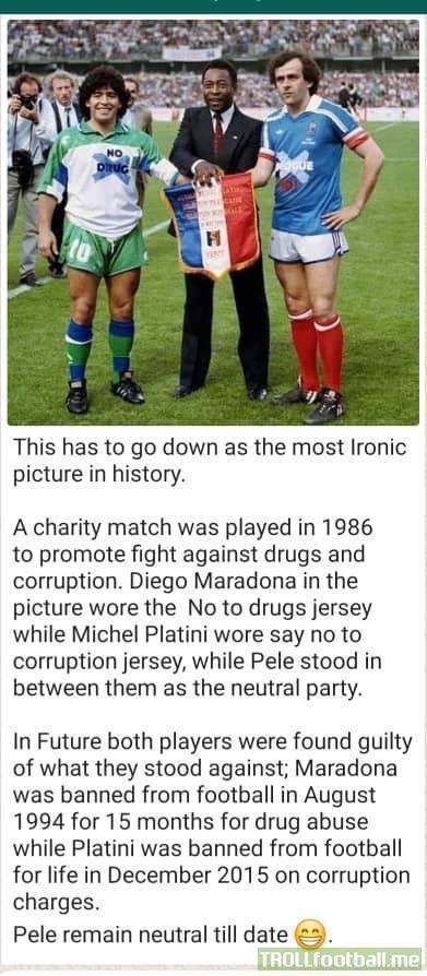 Ironic Maradona Platini