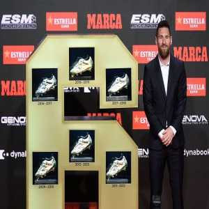 Lionel Messi is the only player to win the European Golden Shoe six times and the only to win the award for three years in a row.
