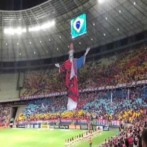Cool choreography by Fortaleza fans tonight (Brasileirao Serie A)