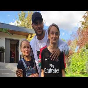 Neymar Jr surprises PSG fans at their home (very wholesome)