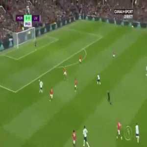 Roberto Firmino powerful shot vs Manchester United