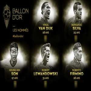 Next five Ballon d'Or nominees: Virgil van Dijk, Bernardo Silva, Heung-Min Son, Robert Lewandowski & Roberto Firmino