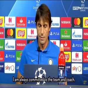 """Journalist: """"Maybe you should play Lazaro upfront in 3421, as he is struggling to adapt as a RWB"""" Conte: """"Thanks for your expert advice, one day I hope to go into journalism like you are trying to get into coaching"""""""