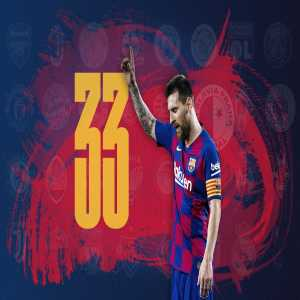 Lionel Messi ties Ronaldo and Raúl's record of scoring against 33 different UCL opponents
