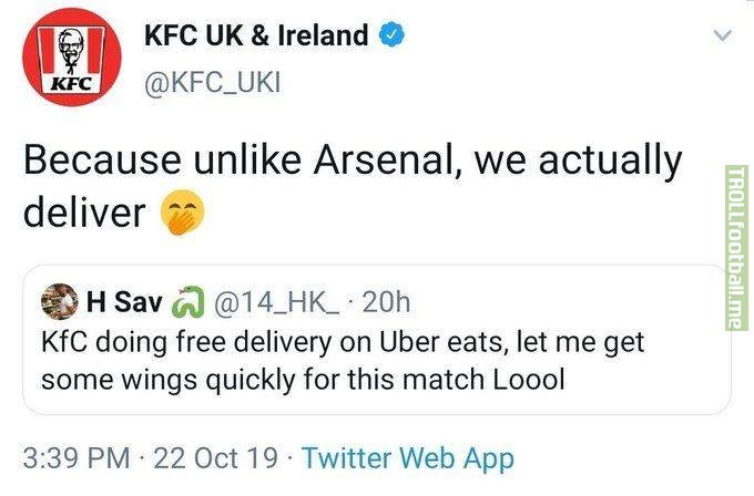 KFC didn't have to do this to Arsenal 😢